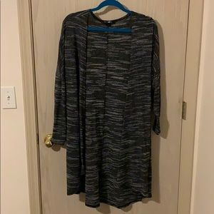 89th & Madison Black and Gray Duster Cardigan 2X
